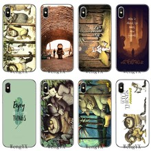 For Xiaomi Mi 9 8 SE Pro A1 A2 Lite 6 6X 5 5s 5x note mix 2s max 2 3 Soft Accessories phone case Where The Wild Things Are(China)