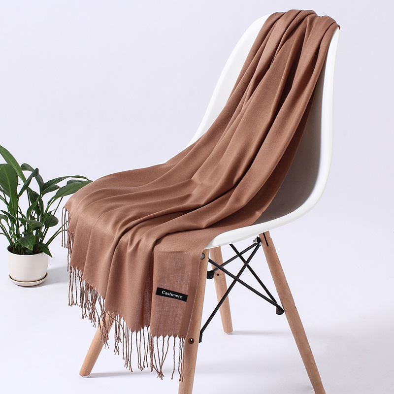 Solid Color Cashmere   Scarf   Women 2019 New Long Soft Shawls and   Wraps   Foulard Pashmina Fashion Tassels Hijab Femme Neck   Scarves
