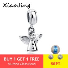 New 925 Sterling Silver angel wings Charms beads Fit Original pandora charm bracelet beads DIY Jewelry Making for women gifts