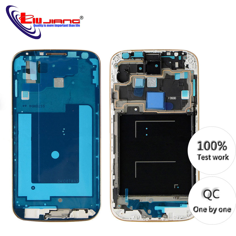 New LCD Front Housing Frame New For Samsung S4 I9500 I9505 I337 Bezel Plate Middle Frame Replacement Repair Parts