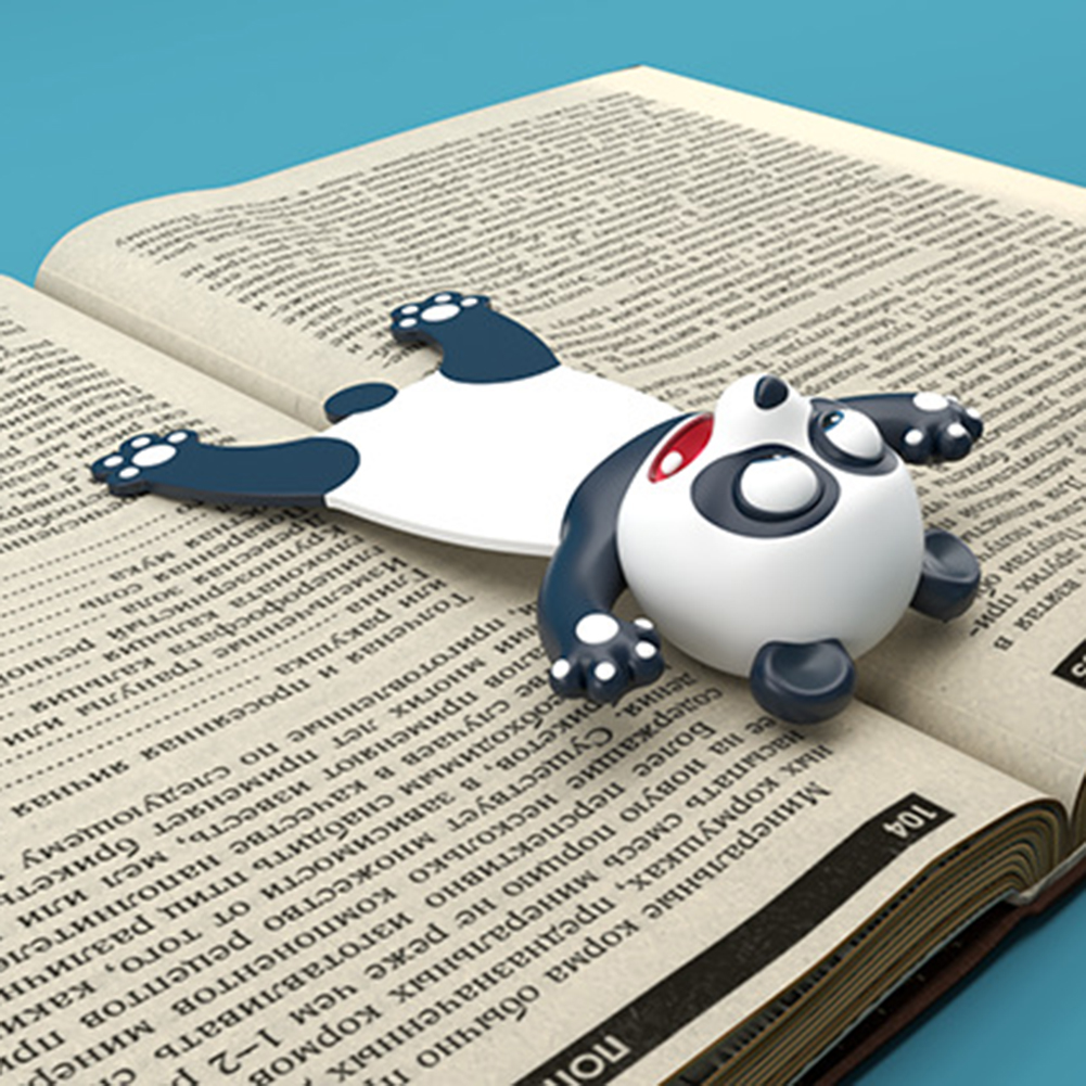 3D Creative PVC Material Stereo Cartoon Marker Animal Style Bookmarks Cute Cat Funny Student School Stationery For Children Gift