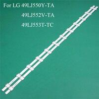 Substituição da peça da iluminação da tevê do diodo emissor de luz para lg 49lj550y ta 49lj552v ta 49lj553t tc linha da tira da luz de fundo da barra do diodo emissor de luz régua v1749l1 2862a|Contas iluminadas| |  -
