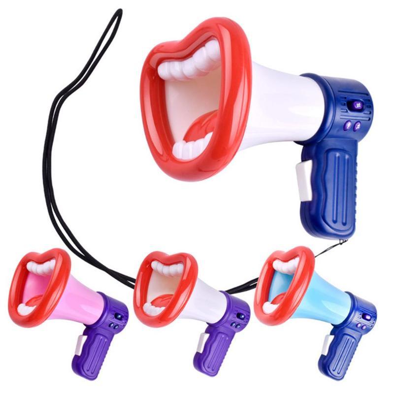 DIY Loudspeaker Voice Changer Recorder Toys Novelty And Creativity Sound Button Handheld Battery For Children Random