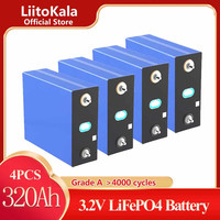 4 pezzi LiitoKala 3.2V 320AH 310ah 12V batteria Lifepo4 grado A cella di accumulo di energia ricaricabile fai da te EU US bus senza tasse