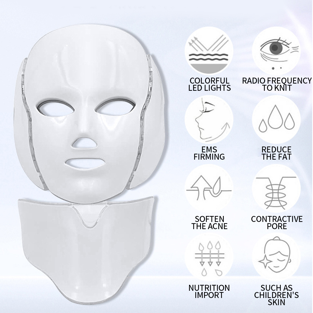 Electric Photon LED Facial Mask LED Mask Light Therapy Beauty Skin Care 7 Colors Rejuvenation Anti Wrinkle Acne Photon Therapy
