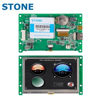 4.3 inch HMI Color TFT LCD Display Module with Controller Board + Program for Instrument Panel недорого