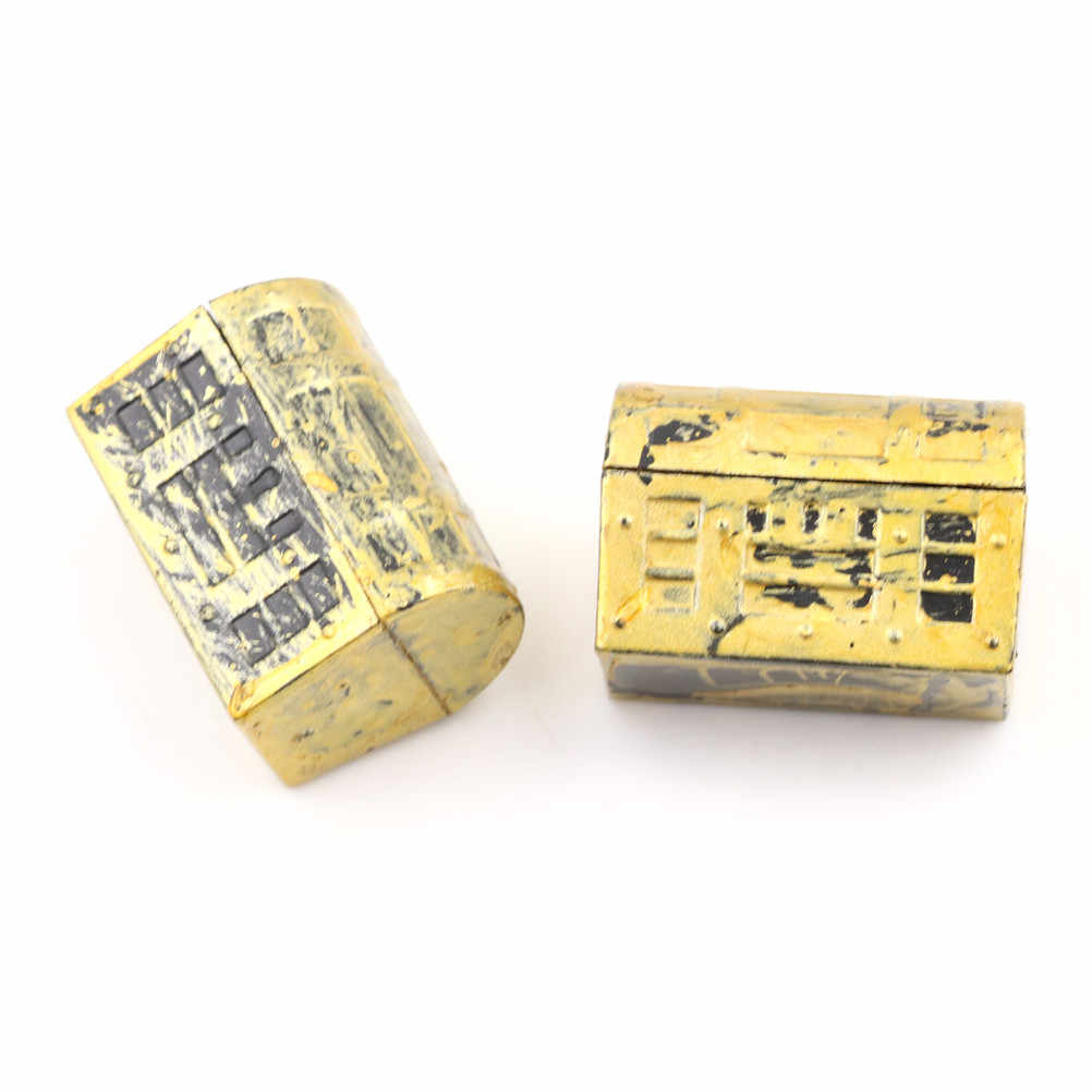2Pcs Dollhouse Miniature Pirate Jewelry Box Case Vintage Treasure BoxLD№ FS VP