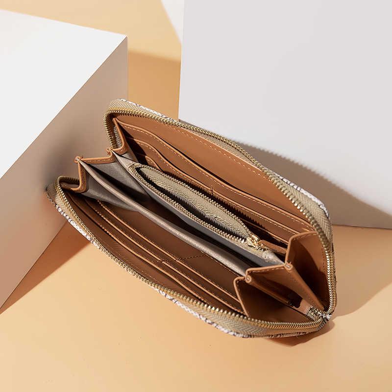 Casual Long Wallet Women men Microfiber Purses Designer Zipper Wallet Lady Clutch Holder Pouch Pack Wallet Multi-card Purse