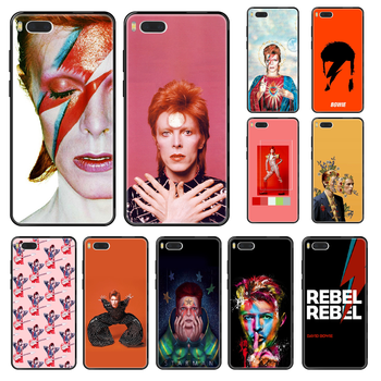Rock David Bowie Phone case For Xiaomi Mi 6 8 9 A1 2 3 Mix3 Mix2 Mix2S X T Lite Pro black fashion coque soft cover trend Etui image