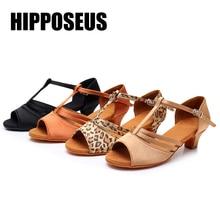 Dance-Shoes Ballroom Tango Hipposeus Salsa Latin Jazz Sandral Girls Women Ladies Soft