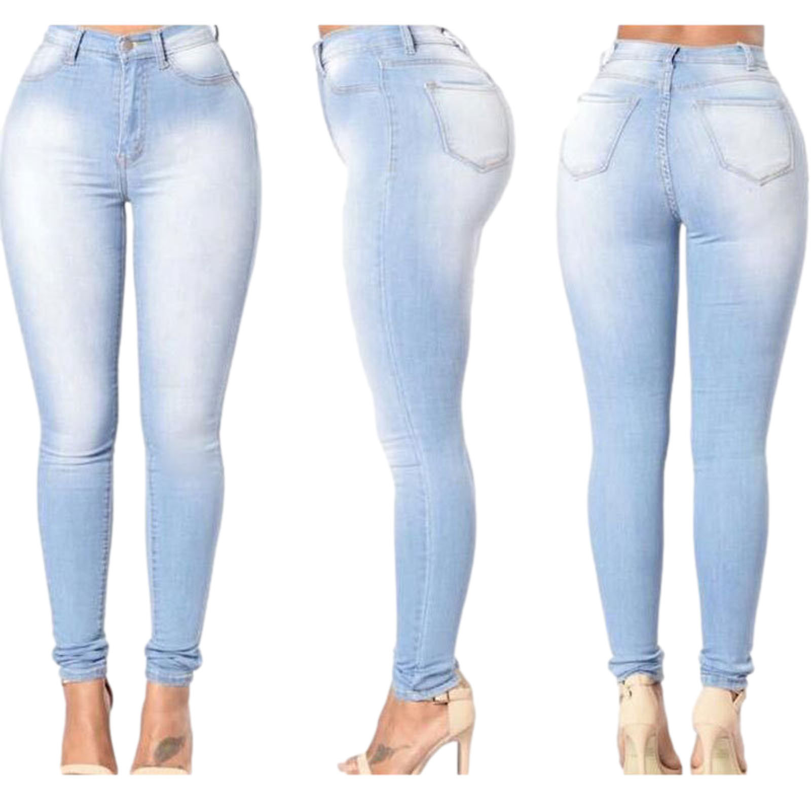 Stretch Jeans Skinny-Pants Slim High-Waist Women Denim Fashion Hot Casual Lady Newest-Arrivals