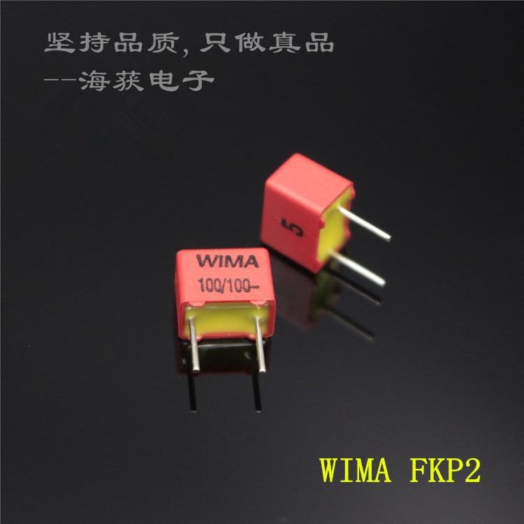 10PCS NEW WIMA FKP2 100pF/100V P5MM 0.1nf 100pf Audio Film Capacitor Fkp 2 Series 100pF/100p/n1/101 100V 101/100v 0.1nF/100V