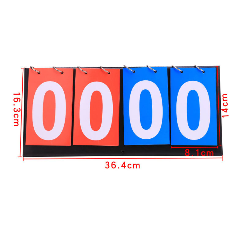 4 Digit Score Board Basketball Referee Soccer Sports Scoreboard For Football Badminton Volleyball Table Tennis Accessories