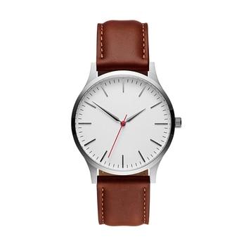 Watch Men Brand Luxury 2019 Male Sport Quartz Wrist Watches Stainless Steel Case Leather Band Business Clock Relogio Masculino цена 2017