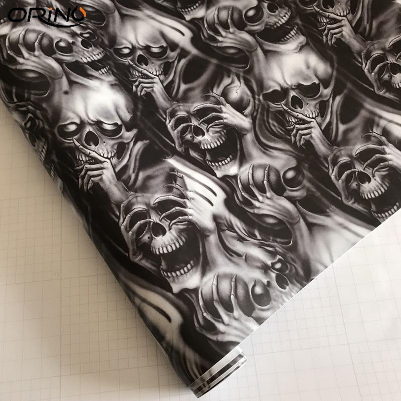 Graffiti Skull Sticker Bomb Vinyl Film-4