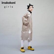 imakokoni original Japanese mid-length woolen coat women autumn and winter thick warm loose coat