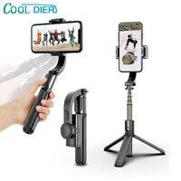 COOL DIER-estabilizador de cardán de mano con Bluetooth, soporte para exteriores, palo de selfi inalámbrico, soporte para Selfie ajustable para teléfono IOS y Android