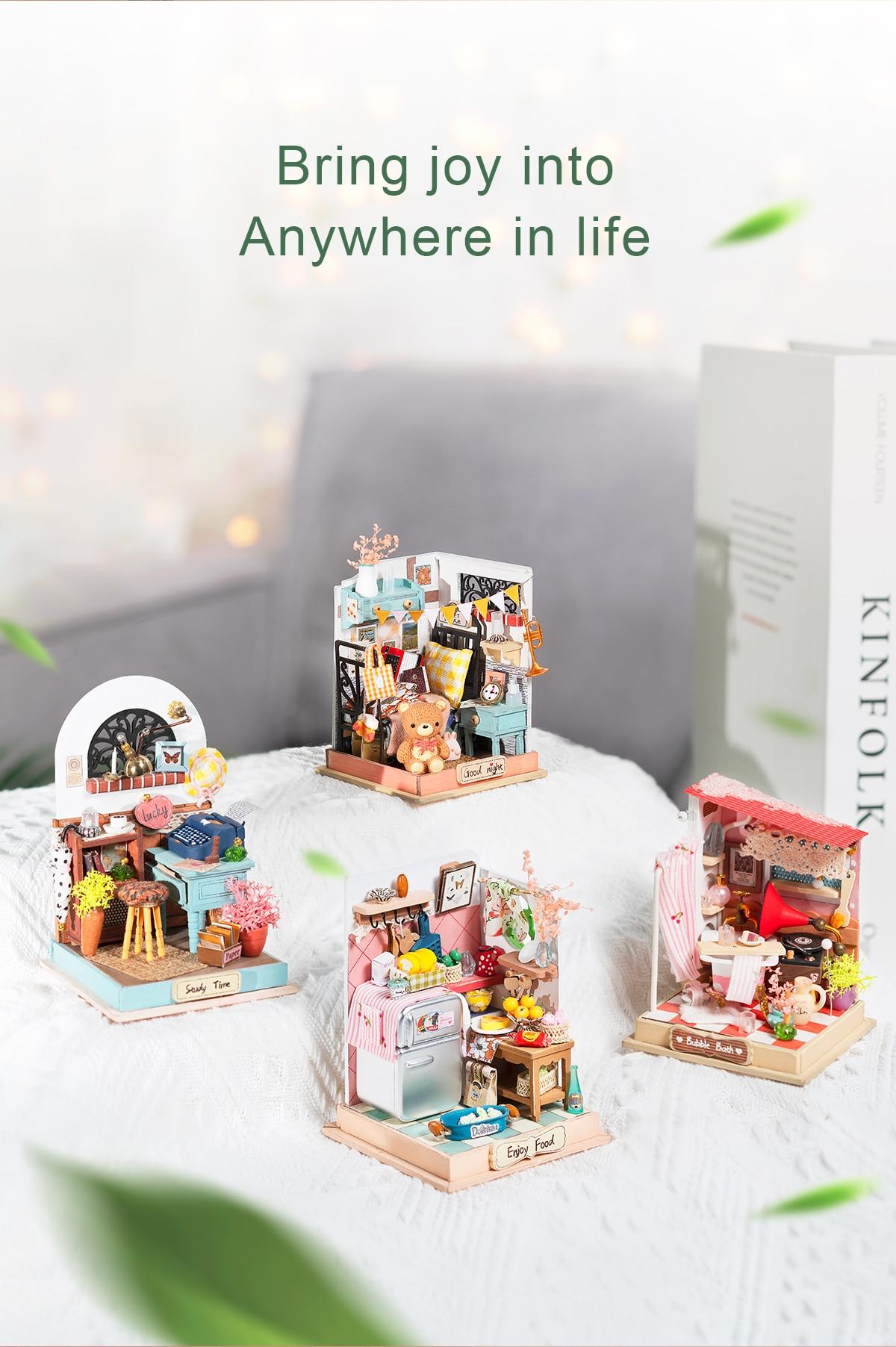 Rolife DIY Miniature Dollhouse - Little & Warm Space Series (4 kits)