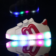 Size 21-30 Baby Flashing Lights Sneakers Toddler Little Kid LED Sneakers Children Luminous