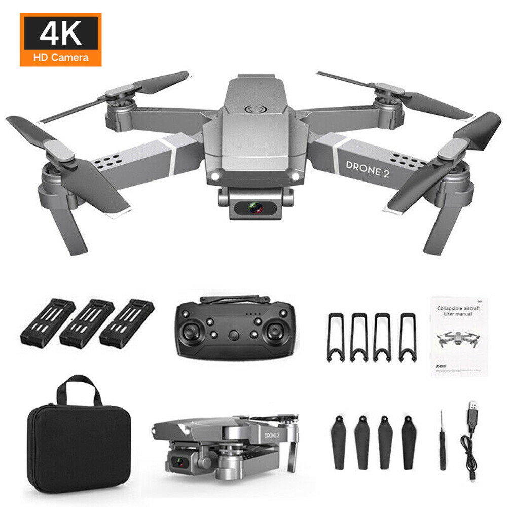 Drone x pro 2.4G Selfie WIFI FPV With 4K HD Camera Foldable RC Quadcopter RTF image