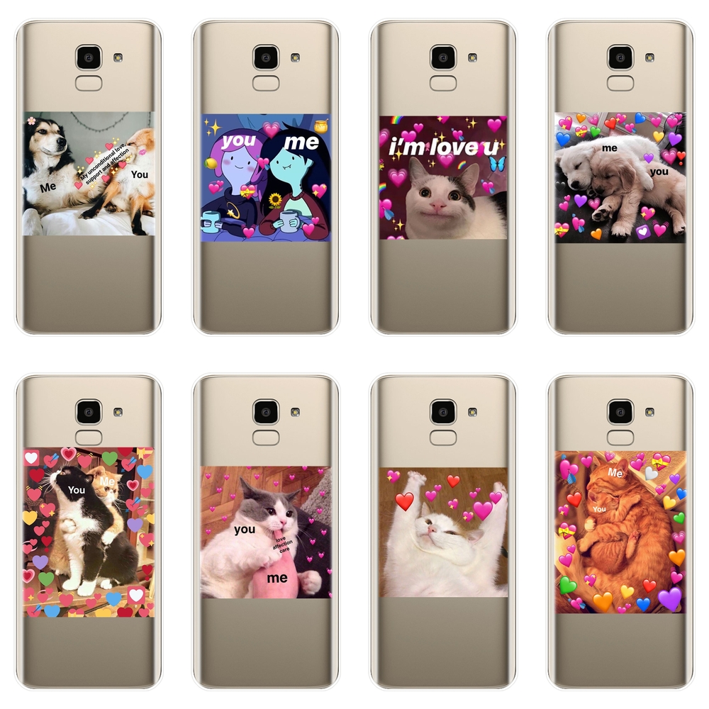 Back Cover For <font><b>Samsung</b></font> Galaxy J2 J5 <font><b>J7</b></font> Prime J4 J6 J8 Plus 2018 Cat Soft Silicone Phone <font><b>Case</b></font> For <font><b>Samsung</b></font> J3 J5 <font><b>J7</b></font> 2015 2016 2017 image