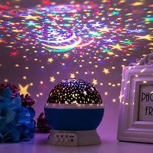 Starlight kreatywna lampa projektora noworoczny prezent na boże narodzenie mała lampka nocna oświetlenie led