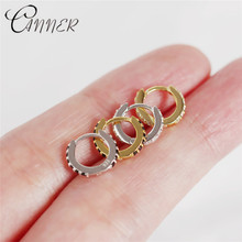 CANNER 100% 925 Sterling Silver Earrings for Women Jewelry Miniature Round Black and White Zircon Small Stud 2019 New