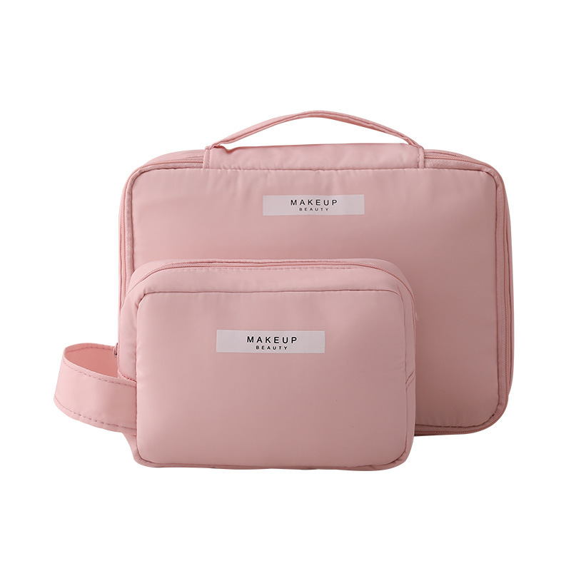 Women Cosmetic Bag Waterproof Portable Travel Toiletries Storage Bag Sponge Protection Large Capacity Multi-Function Washing Bag