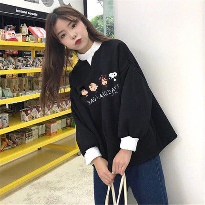 Women Fashion Tops Autumn Ladies Kawaii Students Sweatshirt  Clothes Hoodies Ladies Jumpers Cute Girls Korean Streetwear