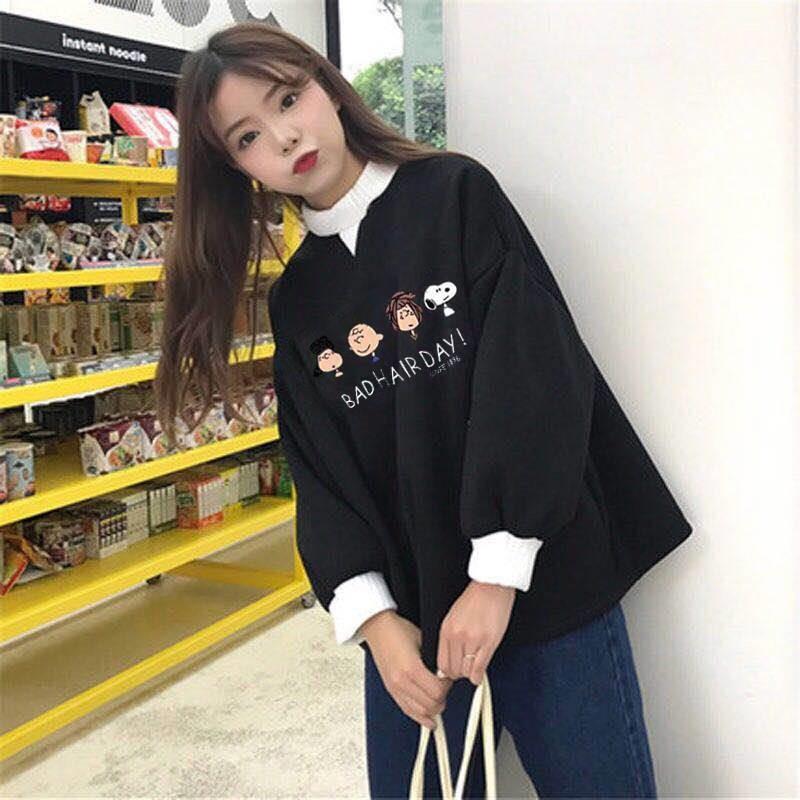 Women Fashion Tops Autumn Ladies Kawaii Students Sweatshirt  Clothes Hoodies Ladies Jumpers Cute Girls Korean Streetwear