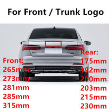 Nero lucido Emblema Logo per Audi A3 A4 A4L A6L TT Q3 Q5 Q7 A5 A7 RS3 RS4 RS5 RS6 frontale Medio Anelli Grille Badge Tronco Sticker(China)