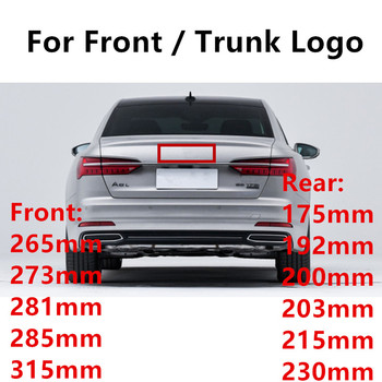 Glossy Black Emblem Logo for Audi A3 A4 A4L A6L TT Q3 Q5 Q7 A5 A7 RS3 RS4 RS5 RS6 Front Middle Rings Grille Badge Trunk Sticker car seat covers camouflage hunting for audi a4l a6l q3 q5 q7 a7 a3 bmw 320i 328li 316i mini one benz glk300 c200l glk260 c180l