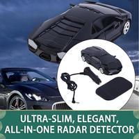 Radar de velocidade do carro quente 360 detector de proteção detecção a laser alerta de voz preto alta qualidade detector veículo carro preto|Detectores de radar|Automóveis e motos -