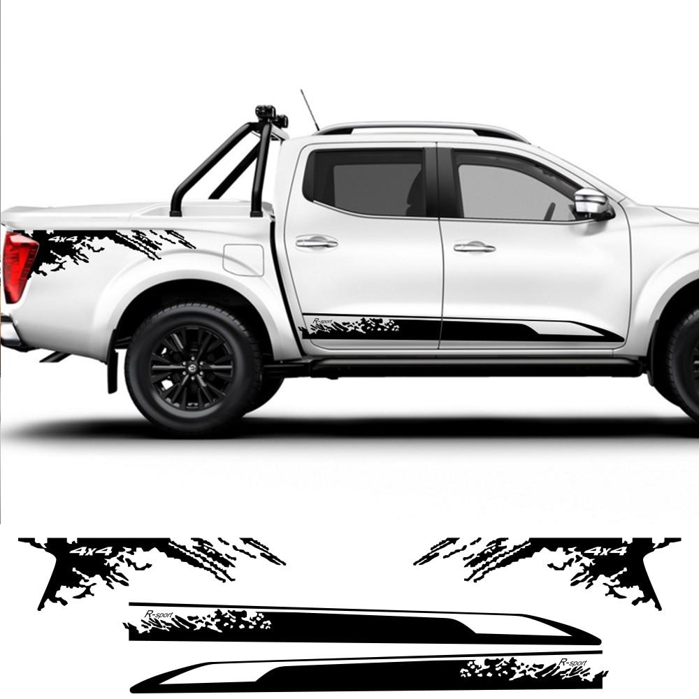2pcs Car Side Sticker Stylish For Nissan NAVARA NP300 Auto Vinyl Film Decoration Decal DIY Sport Styling Car Tuning Accessories