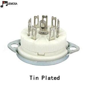 Image 3 - 10PCS 세라믹 9pin 섀시 마운트 진공 튜브 소켓 12AX7 12AT7 12AU7 ECC83 EL84 6922 빈티지 Hifi 튜브 앰프 DIY