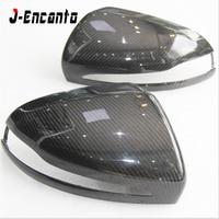 RHD LHD DRY% Carbon Fiber Side Rearview Mirror Cap Cover Trim for Mercedes Benz C E S CLS GLC class W205 W213 Car Accessories