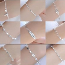 AIYANISHI Charms 925 Sterling Solid Silver Bracelet Chain Linked For Women charm Cuff bangle Valentine Jewelry Gift Pulseira