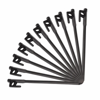 10Pcs Cast Iron Nail 20Cm Outdoor Hiking Awning Canopy Tent Peg Metal Beach Snow Tent Pegs Stakes 20Cm Cast Iron Nail|Tent Accessories| |  -