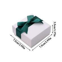 Proste pudełko z biżuterią z opaska z kokardką kolczyk pudełko na naszyjnik opakowanie małe pudełeczka na prezenty Case biżuteria akcesoria