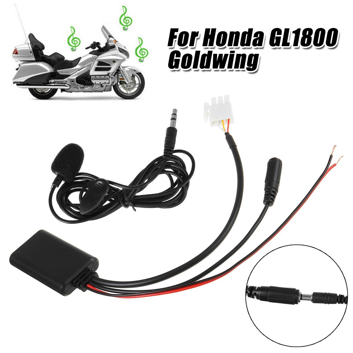 For <font><b>Honda</b></font> GL1800 Goldwing Motorcycle 3Pin AUX Audio <font><b>Cable</b></font> <font><b>Adapter</b></font> with Mic Audio Receiver image