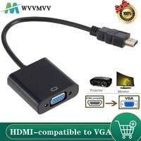 WVVMVV-cable Adaptador convertidor HD 1080P HDMI, compatible con VGA, para Xbox, PS4, PC, portátil, TV box a pantalla de proyector HDTV