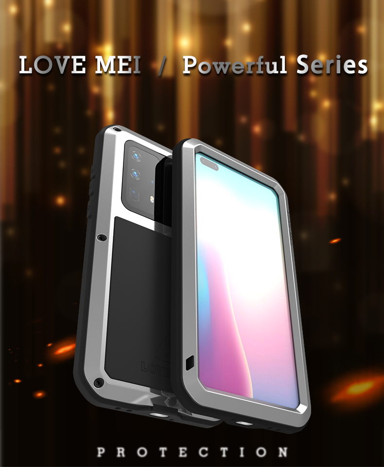 Love Mei Powerful Case For Huawei P40 Shock Dirt Proof Water Metal Armor Cover Phone Case for Huawei P40 Pro Cases