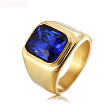 Luxury Precious Color Fashion Jewelry Rings Titanium Steel Rings Casting Ring For Man Party Gifts Free Shipping цена 2017