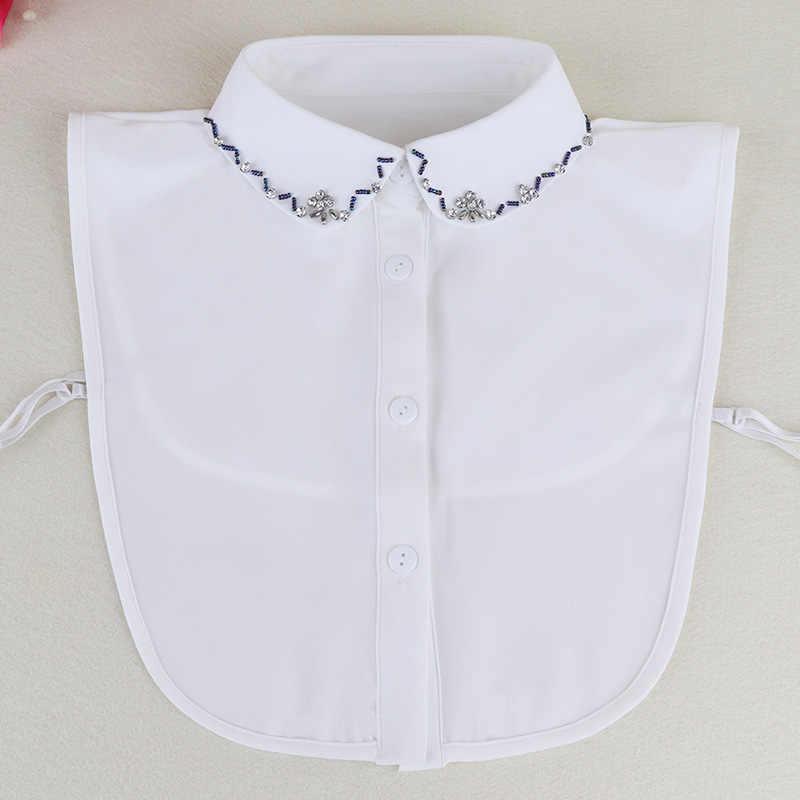 White Clothes Shirt Fake Collar For Women Faux Tie Collars False Collar Lapel