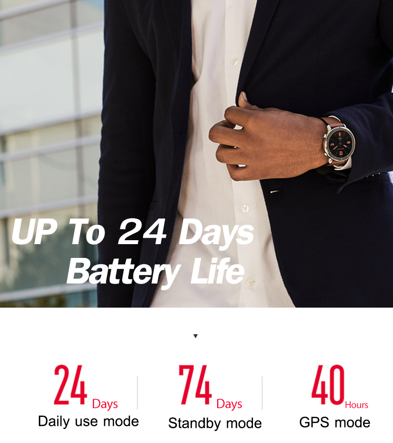 Versión Global amazfit gtr 47mm reloj inteligente Pantalla AMOLED batería de 24 días Reloj GPS 50ATM impermeable natación - 2