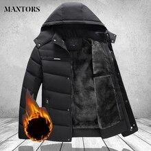 Coats Jackets Parkas Men Hooded Brand-Clothing Warm Thick Long Winter Fashion Mens Casual