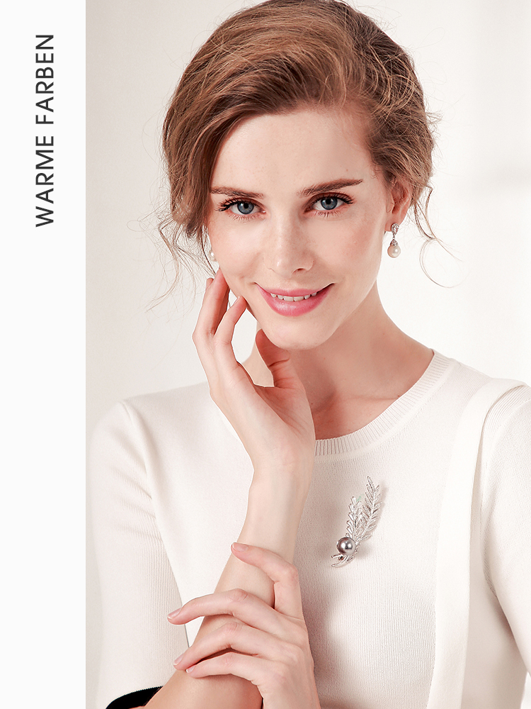Warme Farben 925 Sliver Women Earrings Made With Swarovski Crystal Elegant Pearl Drop Earrings Fashion Jewelry Warme Farben 925 Sliver Women Earrings Made With Swarovski Crystal Elegant Pearl Drop Earrings Fashion Jewelry Wedding Earrings