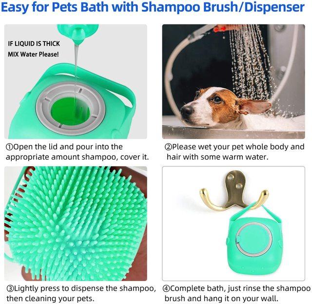 Dog Shampoo Massager Brush  4