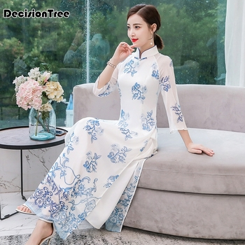 2020 cheongsam aodai white woman aodai vietnam traditional clothing ao dai vietnam dress vietnam costumes improved cheongsam фото