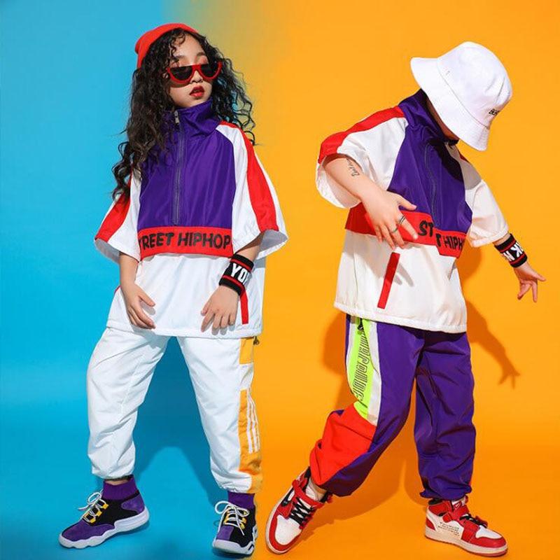 Children  Ballroom Jazz Dance Costumes Loose Jacket Pants Hip-hop Clothing Boys Modern Dance Stage Wear Concert  Street Outfits